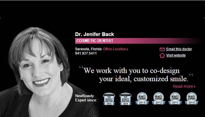Dr. Back Featured Cosmetic Dentist in New Beauty Magazine